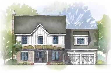 3-Bedroom, 2758 Sq Ft Country House Plan - 168-1006 - Front Exterior