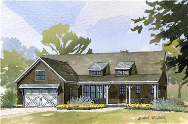 4-Bedroom, 3134 Sq Ft Country House Plan - 168-1007 - Front Exterior