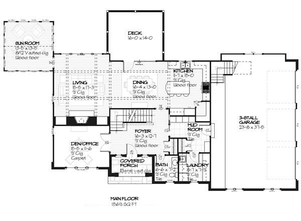 168-1008: Floor Plan Main Level