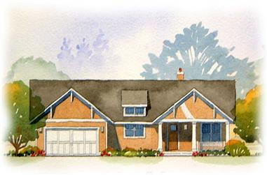 4-Bedroom, 2467 Sq Ft Country Home Plan - 168-1012 - Main Exterior