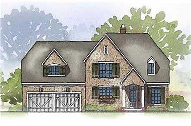 4-Bedroom, 3164 Sq Ft Country House Plan - 168-1013 - Front Exterior