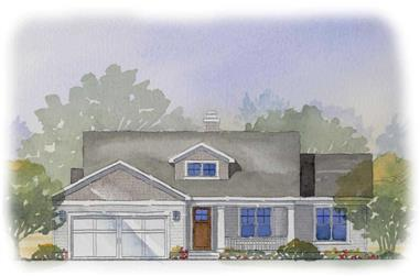 4-Bedroom, 2288 Sq Ft Country Home Plan - 168-1015 - Main Exterior