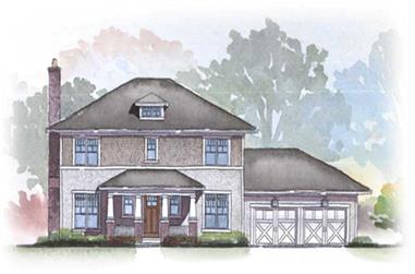 3-Bedroom, 2294 Sq Ft Colonial House Plan - 168-1017 - Front Exterior