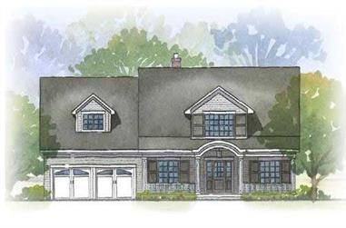 4-Bedroom, 2739 Sq Ft Cape Cod Home Plan - 168-1018 - Main Exterior