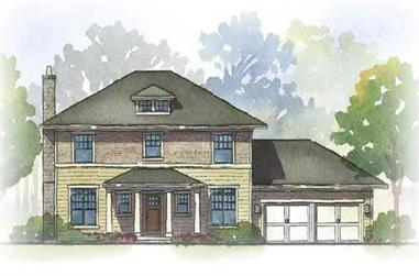 3-Bedroom, 2294 Sq Ft Georgian House Plan - 168-1019 - Front Exterior