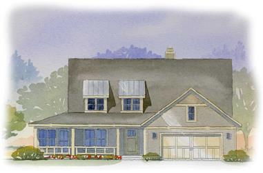 3-Bedroom, 3007 Sq Ft Cape Cod House Plan - 168-1020 - Front Exterior