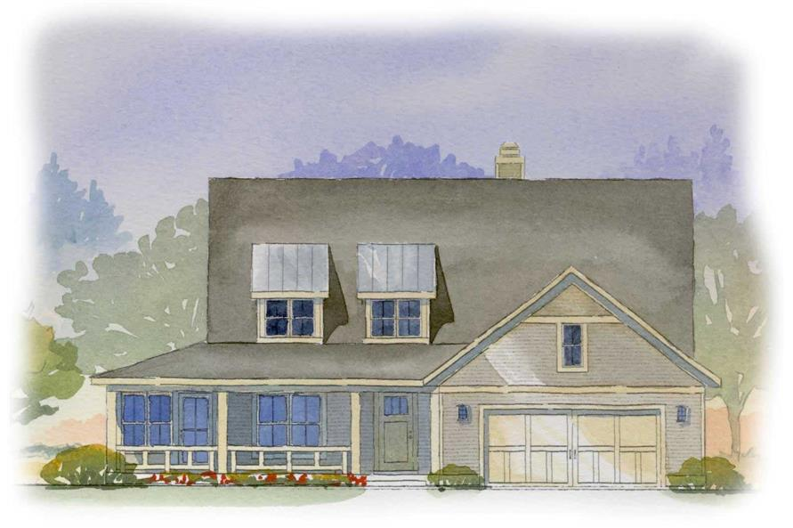 This is a colored rendering of these country houseplans.
