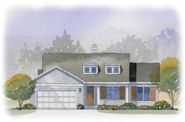 4-Bedroom, 2288 Sq Ft Cape Cod House Plan - 168-1022 - Front Exterior