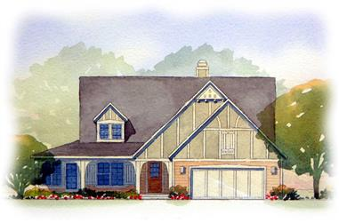 3-Bedroom, 3007 Sq Ft Country House Plan - 168-1023 - Front Exterior