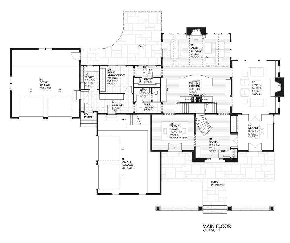 168-1024 house plan main level