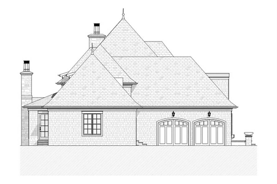 Home Plan Left Elevation of this 5-Bedroom,4427 Sq Ft Plan -168-1024