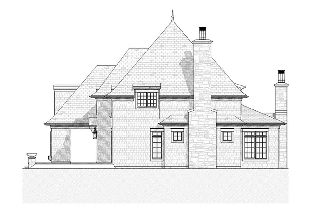 168-1024 house plan right elevation