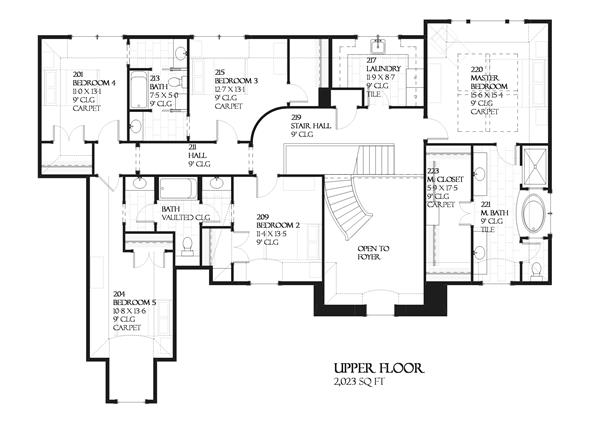168-1024 house plan upper level