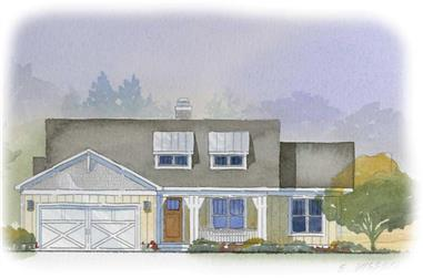 4-Bedroom, 2288 Sq Ft Country House Plan - 168-1026 - Front Exterior