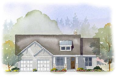 3-Bedroom, 2457 Sq Ft Country House Plan - 168-1027 - Front Exterior