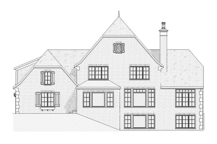 168-1028: Home Plan Rear Elevation