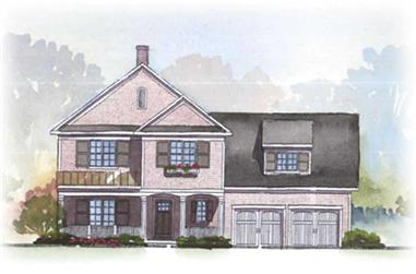 3-Bedroom, 2728 Sq Ft Country House Plan - 168-1029 - Front Exterior