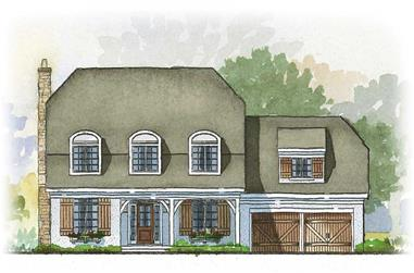 3-Bedroom, 2862 Sq Ft Country House Plan - 168-1030 - Front Exterior