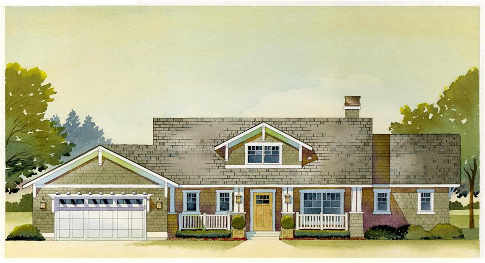 This is an artist's rendering of the Copperwood House Plan.