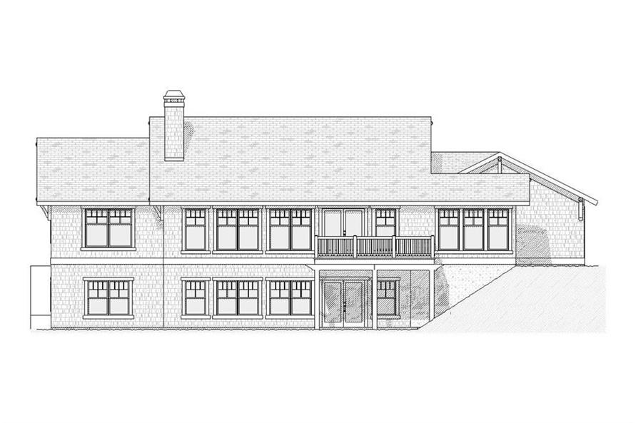 168-1031: Home Plan Rear Elevation