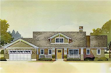 3-Bedroom, 3392 Sq Ft Country Home Plan - 168-1031 - Main Exterior
