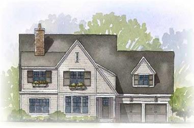 3-Bedroom, 3167 Sq Ft Country House Plan - 168-1032 - Front Exterior