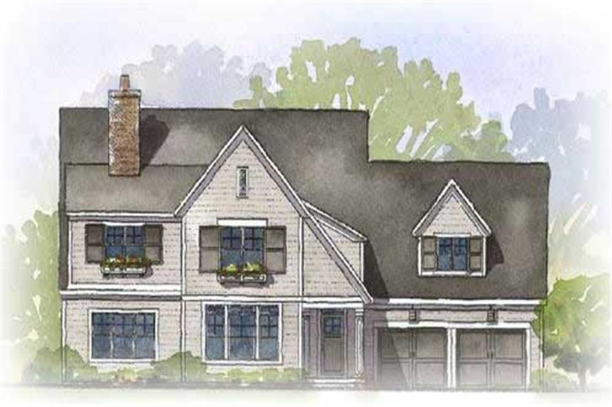 This is a colored rendering of these Traditional Homeplans.