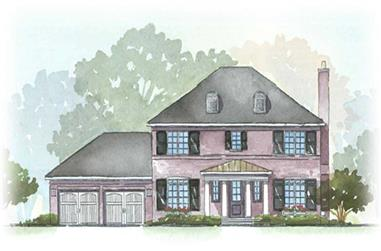 3-Bedroom, 2294 Sq Ft European House Plan - 168-1033 - Front Exterior