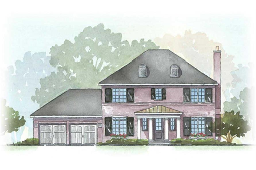 This is a colored rendering of these Georgian Homeplans.