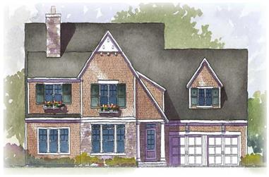 3-Bedroom, 3198 Sq Ft Country Home Plan - 168-1034 - Main Exterior