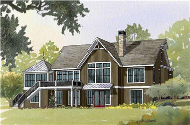 4-Bedroom, 4759 Sq Ft Country Home Plan - 168-1035 - Main Exterior