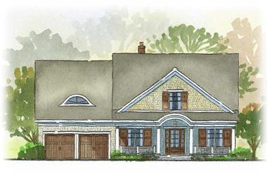4-Bedroom, 3225 Sq Ft Country Home Plan - 168-1036 - Main Exterior