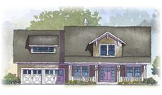 This is a colored rendering of the Hollister House Plans.