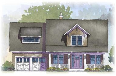 4-Bedroom, 2766 Sq Ft Cape Cod Home Plan - 168-1037 - Main Exterior