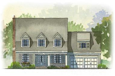 3-Bedroom, 2862 Sq Ft Cape Cod House Plan - 168-1040 - Front Exterior