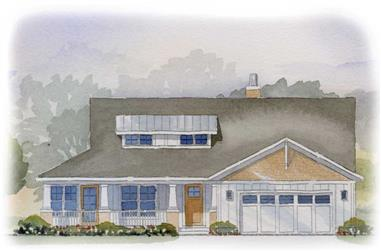 3-Bedroom, 3007 Sq Ft Country House Plan - 168-1041 - Front Exterior