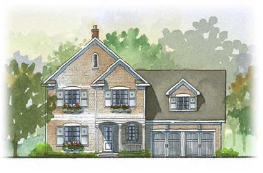 3-Bedroom, 2728 Sq Ft Country House Plan - 168-1042 - Front Exterior