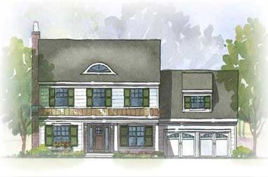 3-Bedroom, 2758 Sq Ft Colonial House Plan - 168-1043 - Front Exterior