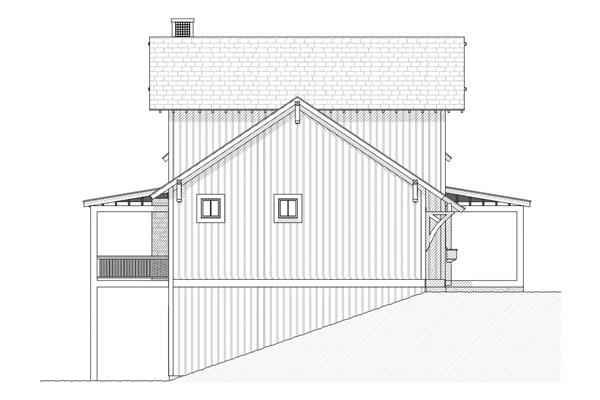 168-1044 house plan left elevation