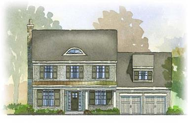 3-Bedroom, 2758 Sq Ft Country House Plan - 168-1046 - Front Exterior