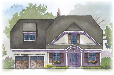 4-Bedroom, 2804 Sq Ft Country Home Plan - 168-1047 - Main Exterior