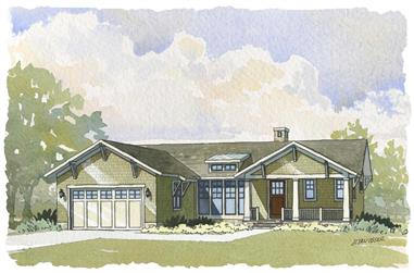 4-Bedroom, 3134 Sq Ft Country House Plan - 168-1048 - Front Exterior
