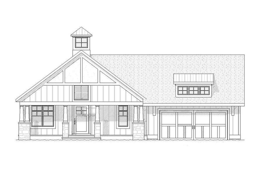 168-1049: Home Plan Front Elevation