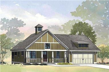 3-Bedroom, 2425 Sq Ft Craftsman House Plan - 168-1049 - Front Exterior