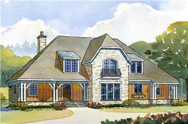 4-Bedroom, 3146 Sq Ft Country House Plan - 168-1050 - Front Exterior