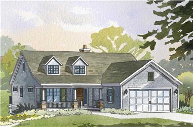 3-Bedroom, 2411 Sq Ft Cape Cod House Plan - 168-1052 - Front Exterior