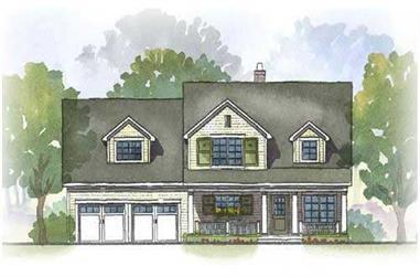 4-Bedroom, 3148 Sq Ft Cape Cod Home Plan - 168-1053 - Main Exterior