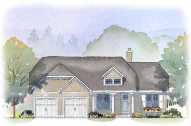 3-Bedroom, 2457 Sq Ft Country House Plan - 168-1054 - Front Exterior