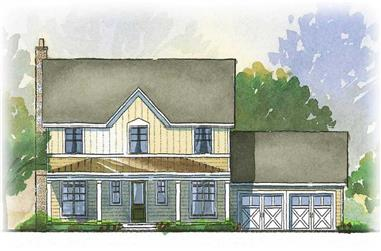 3-Bedroom, 2294 Sq Ft Country Home Plan - 168-1055 - Main Exterior