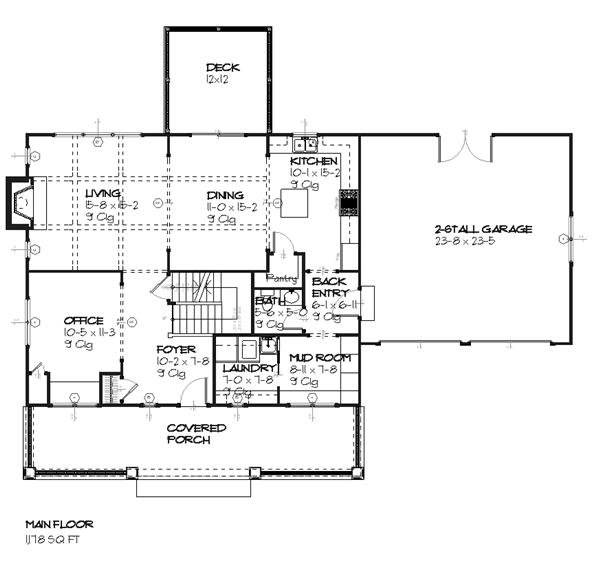 168-1056 house plan main level